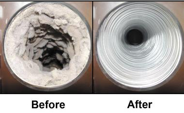 Getting your dryer vent cleaned - service